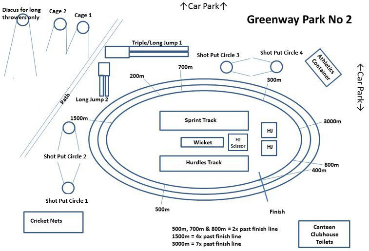 Map Greenway oval No 2