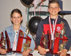 2020-2021 TJ Beale winners Jenaya Lubrano and Joel Moresi